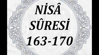 """(4): Nisâ Sûresi´nin 163. - 170. ayetleri ( """" TÜRKÇE """" )"""