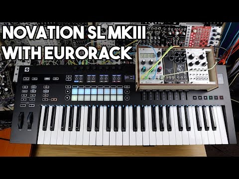 Novation SL MkIII with Eurorack Modular Synths // Sequencer, keyboard & controller Mp3