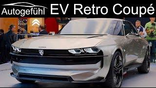 Retro EV Coupé style like the 504! Peugeot e-Legend Concept - Autogefühl