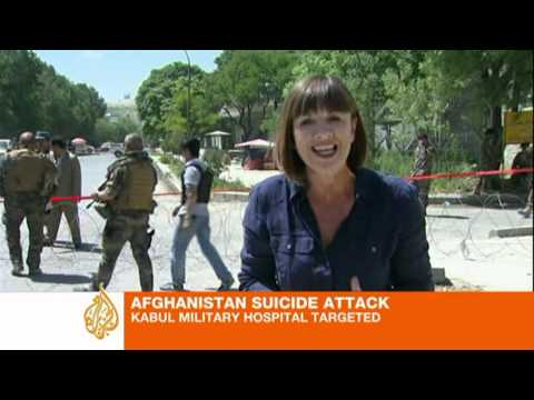 Kabul military hospital 'targeted'
