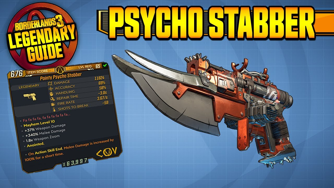 Psycho Stabber Legendary Item Guide Borderlands 3 Youtube Vault hunters, on the search for the location of this evil enemy, will need to make their way to the merdian outskirts area on the planet of promethea. psycho stabber legendary item guide borderlands 3