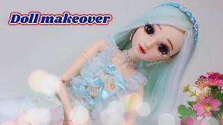 Doll repaint 60cm ~ Biến hóa búp bê TIỂU THƯ dễ thương ~ Ami DIY