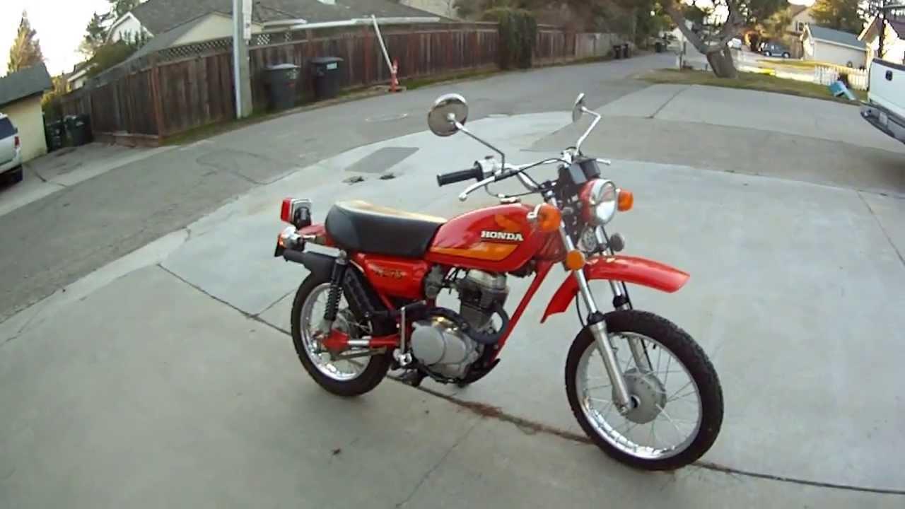 Enduro R Specs >> 1977 HONDA XL75 - XR75 Street Model - Vintage Motorcycle Walk Around xl 75 enduro xr Red - YouTube