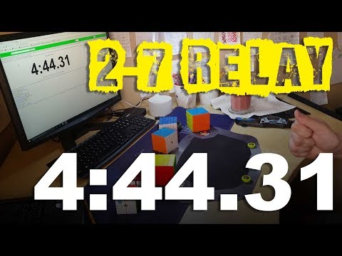 [4:44.31] YTUWR 2x2-7x7 Rubik's Cube Relay