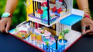 DIY Miniature Dollhouse with Swimming Pool ~ Ariel Room Decor