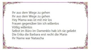 Heino - Willenlos Lyrics