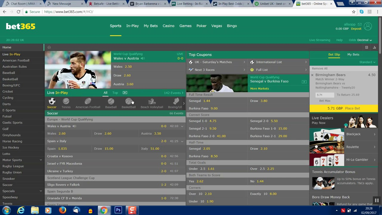 Bet365 Limited Account