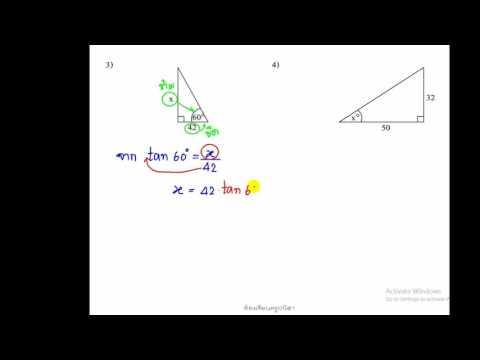 ทบทวน อัตราส่วนตรีโกณมิติ ข้อ 2