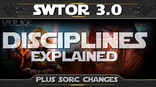 SWTOR Shadow of Revan - Disciplines System Overview & Sorcerer Changes Details