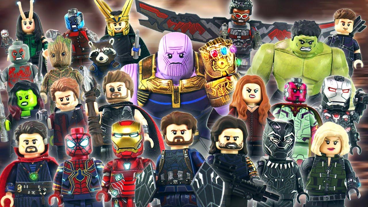 Custom Infinity Wars Super Hero Vision Avengers Minifigure
