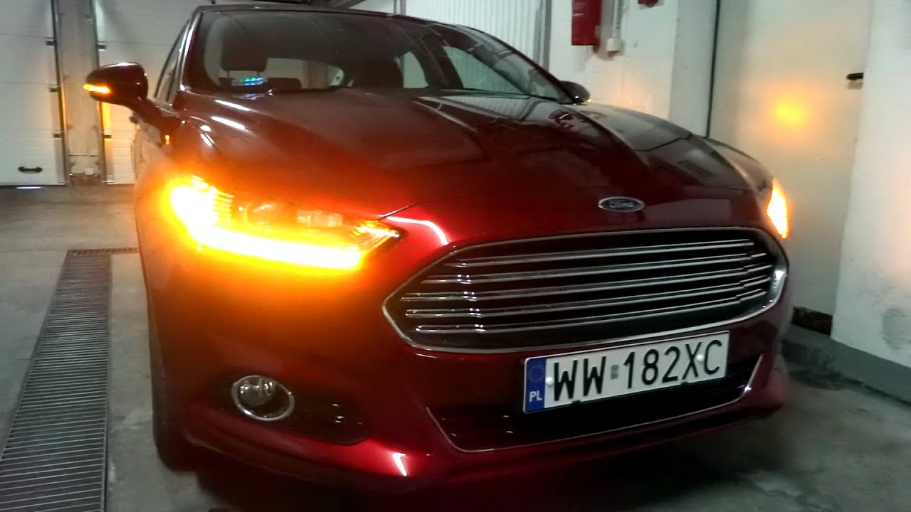 2017 2016 Ford Fusion Mondeo Mk V Led Lights Dynamic Turn Signals Presentation Garage Park Parking