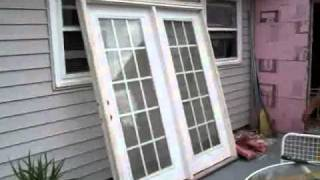 Installing French Doors - Before and After - Not A