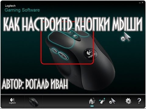 как настроить кнопки на мышке