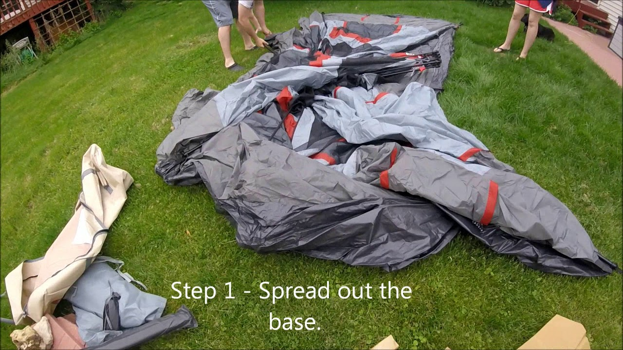 Ozark Trail 12 Person Tent -NEW - First Time Setting it Up