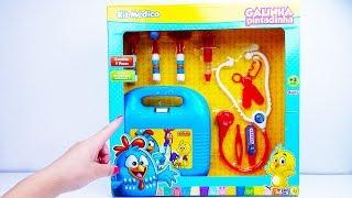 Brinquedo Kit Médico da Galinha Pintadinha! Maleta da Galinha Pintadinha - Dino Bagunça