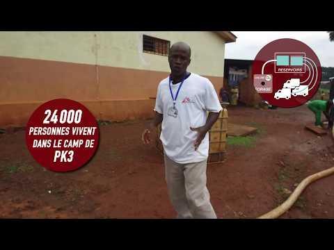 Walk & Talk - Apporter de l'eau dans le camp de PK3 en République centrafricaine
