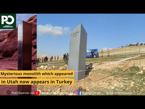 Mysterious monolith which appeared in Utah now appears in Turkey   Pakistan Observer