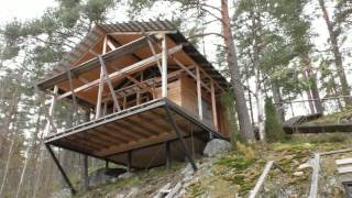видео Проект гостевого дома в лесу на берегу озера