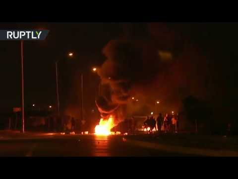 Violent protests erupt during evictions in Vrygrond, South Africa