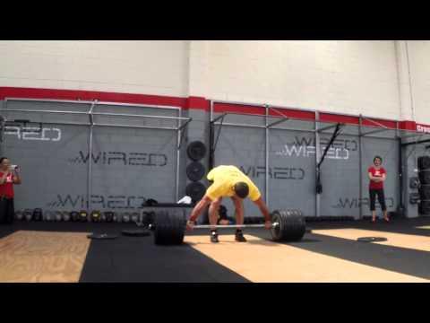 Dmitry Klokov 260x3 Deadlift... snatch grip