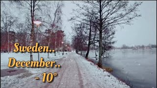 Winter in Sweden -Stress Relief music - Relaxing Music with Snow - Coffee Has Memory, Cinematic View