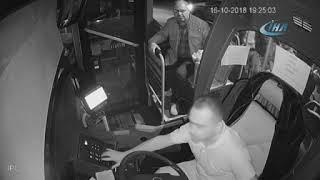 Halk otobüsü şoförüne saldırı kameralara böyle yansıdı