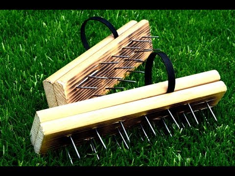 DIY   How To Make A Lawn Aerator Shoes