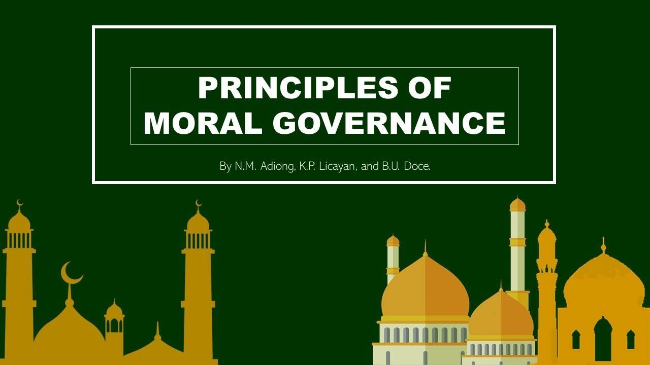 Moral Governance framework for BARMM - YouTube