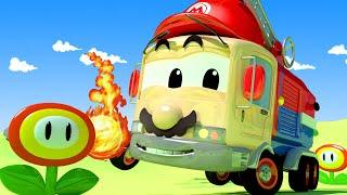 Garagem de carro para crianças - Frank é Super Mario - Oficina de Pintura do Tom - Cidade do Carro