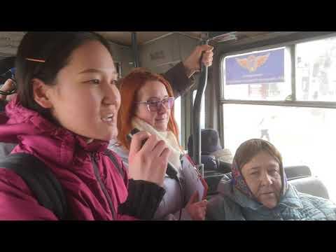 читающий троллейбус в Рязани 2019 - студентка из Монголии