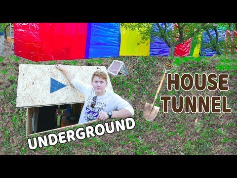 SECRET UNDERGROUND TUNNEL IN THE DUCT TAPE HOUSE - DIY