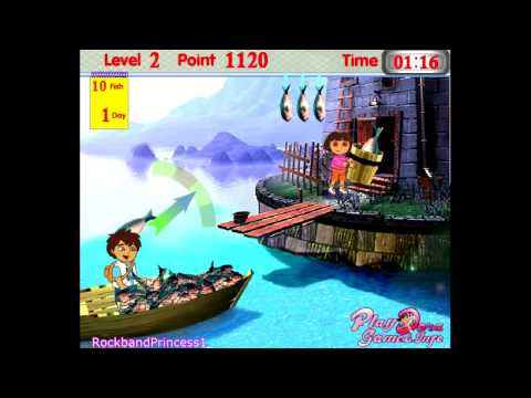 Dora The Explorer Online Games - Dora And Diego Fish Game For Kids