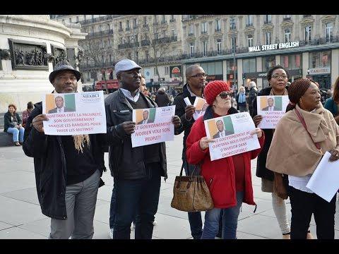 Manifestation à Paris du syndicat des investisseurs d'Agrobusiness (SIIABCI).