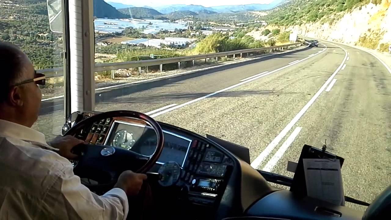 otobüs yolculuğu kumluca - YouTube