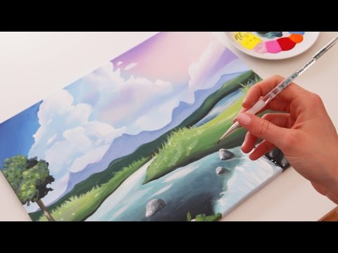 How to Paint a Cute Landscape
