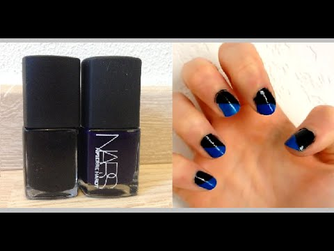 tuto nail art ongles diagonale d butant facile c line youtube. Black Bedroom Furniture Sets. Home Design Ideas