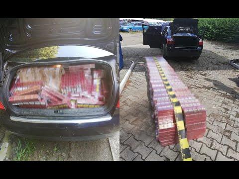 Un contrabandist și-a abandonat mașina plină cu țigări de contrabandă și a fugit în pădure