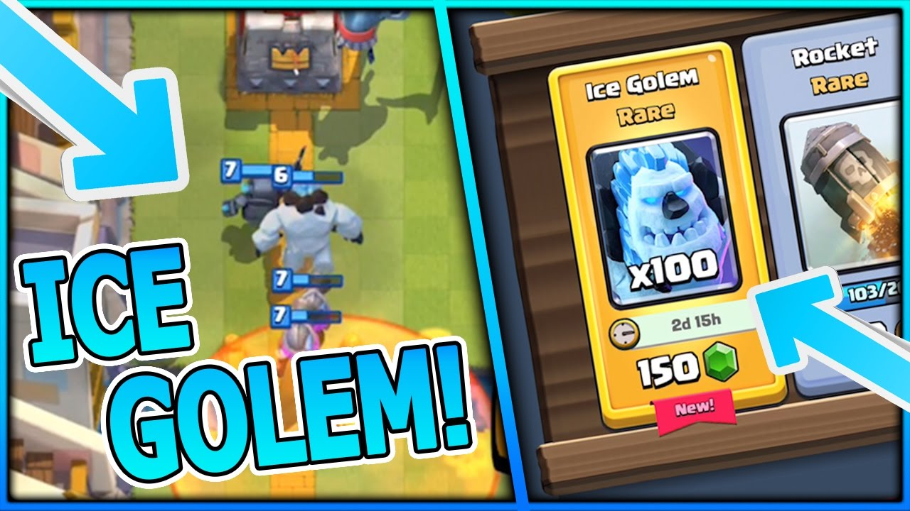 Ice golem unlocked ice golem deck strategy clash for Clash royale deck arc x