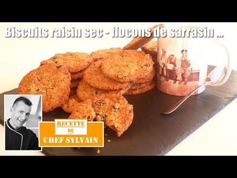 biscuits-aux-raisins-secs-et-flocons-de-sarrasin---recette-par-chef-sylvain-!