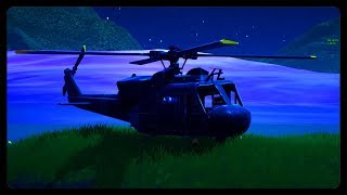 SECRET HELICOPTER MOVING AROUND THE MAP! (Fortnite Season 8)