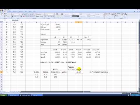 how to create a multiple regression prediction equation in excel