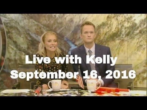 Live with Kelly (September 16, 2016) Neil Patrick Harris, Alan Cumming, Paige VanZant teaches Kelly,