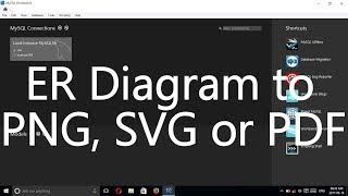 how to er diagram export as png svg or pdf file using mysql workbench
