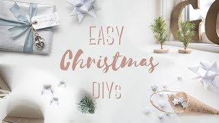 Easy Christmas DIYs - how to make nordic style decorations
