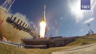 С космодрома Плесецк запустили  Союз 2 1б  с военным спутником нового поколения
