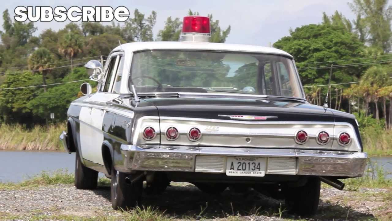 1962 Chevrolet Impala Police Cruiser  60 s Cop Chase inside    YouTube