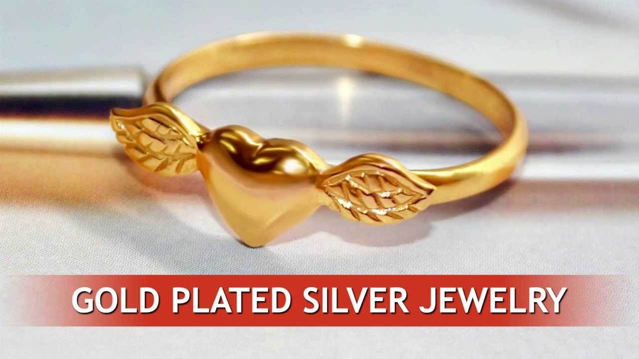 Gold plated sterling silver jewelry YouTube
