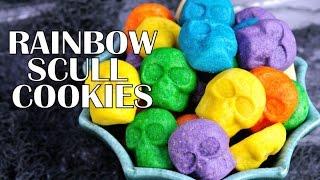 Rainbow Sugar Cookie Skulls, Haniela's