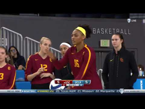 Women's Volleyball: USC 3, UCLA 2 - Highlights 11/23/18