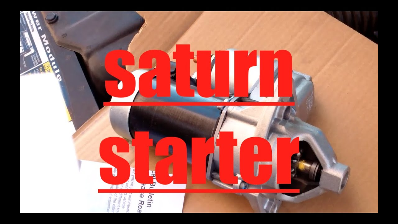 DIY How to install replace the starter Saturn SL2 √  YouTube